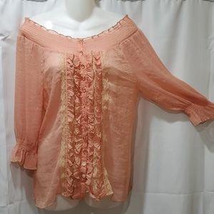Arden B 3/4 sleeve off shoulder blouse Size M